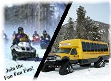 Snowmobile and Snow Coach Package