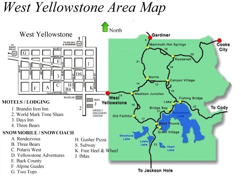 Area Map Of West Yellowstone